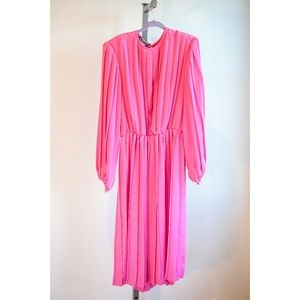 Monica Richards Vintage Pink Dress Size 8